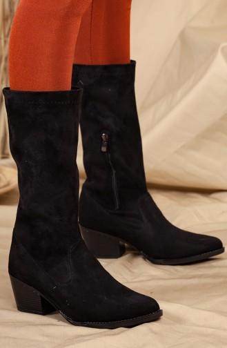 Black Boots-booties 0524-01