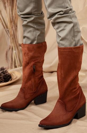 Tan Boots-booties 0524-02