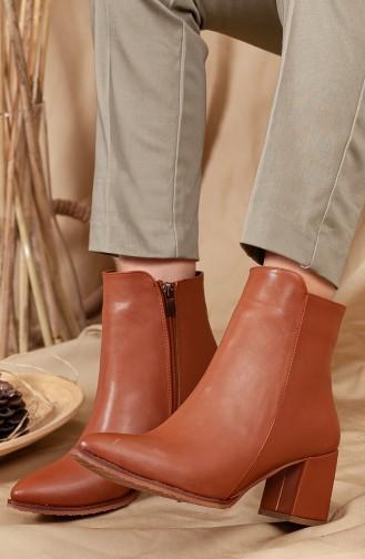Tan Boots-booties 0546-02