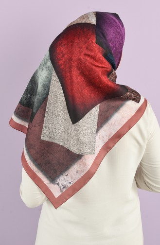Patterned Silky Twill Scarf 15225-05 Tobacco 15225-05