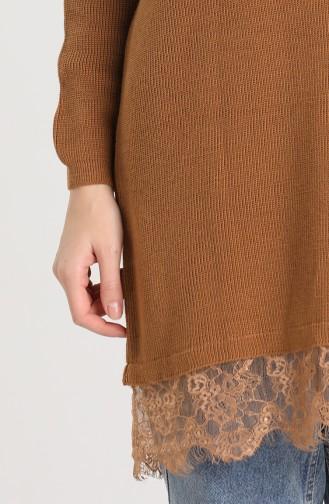 Knitwear Lace Detailed Sweater 4961-01 Earth 4961-01