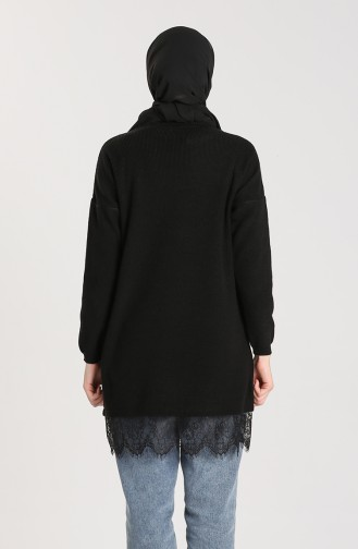 Knitwear Lace Detailed Sweater 4961-02 Black 4961-02
