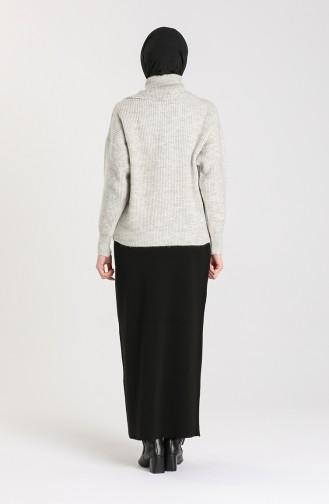 Knitwear Short Sweater 5015-01 Gray 5015-01