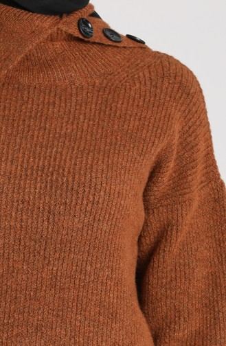 Knitwear Short Sweater 5015-02 Tobacco 5015-02