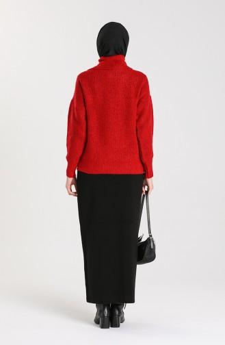 Knitwear Short Sweater 5015-04 Red 5015-04