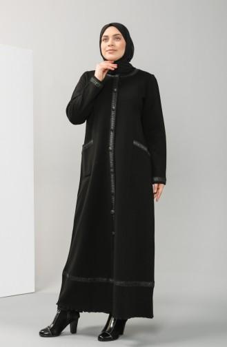 Schwarz Trenchcoat 0744-01