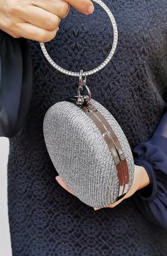 Rauchgrau Portfolio Handtasche 259111-212