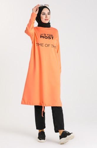 Printed Sports Tunic 55132-04 Salmon 55132-04