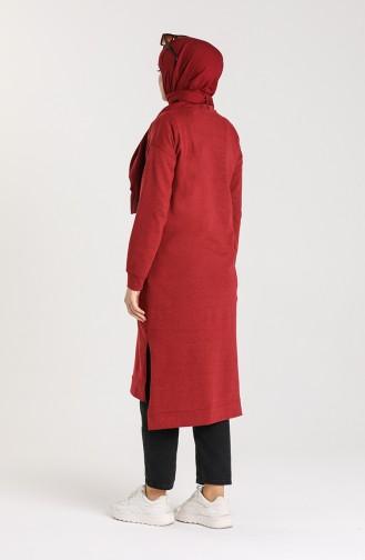 Tunic with Side Slit Pocket 3234-11 Burgundy 3234-11