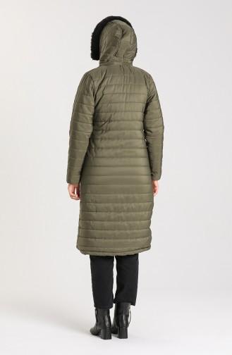 Zippered quilted Jacket 1052C-01 Khaki 1052C-01