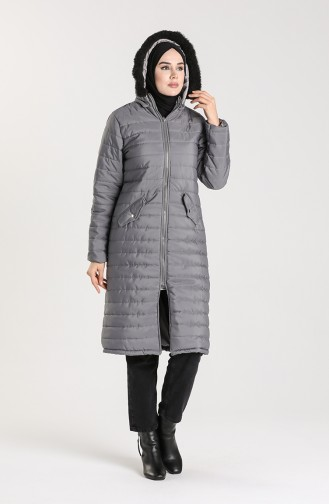 Zippered quilted Jacket 1052c-02 Gray 1052C-02