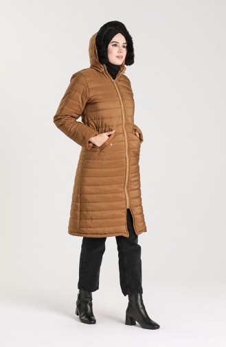 Zippered quilted Jacket 1052c-06 Tobacco 1052C-06