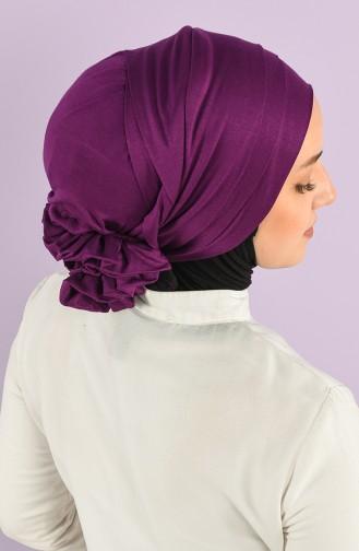 Lila Praktischer Turban 0014-18