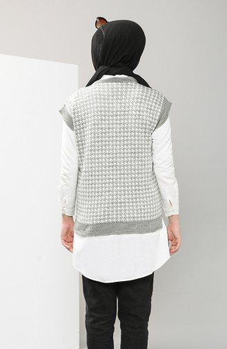 Gray Sweater Vest 0598-03
