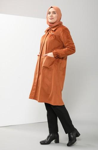 Plus Size Shirt Collar Velvet Tunic 4931-02 Tile 4931-02