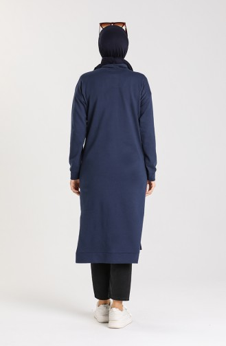 Tunic with Side Slit Pocket 3234-12 Light Blue 3234-12
