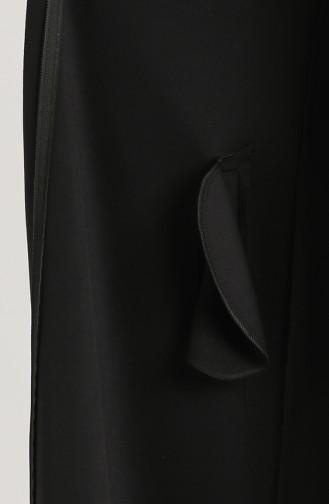 Fermuarlı Süet Kaban 0136-01 Siyah