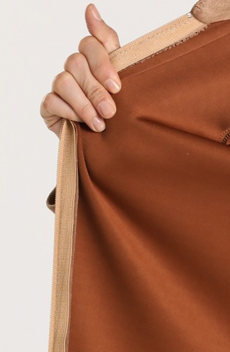Plus Size Hooded Suede Coat 0119-05 Mink 0119-05