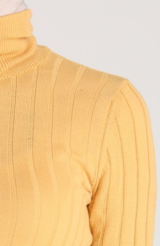 Knitwear Neck Short Sweater 0603-01 Mustard 0603-01