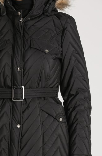 Arched Quilted Coat 0139-03 Black 0139-03