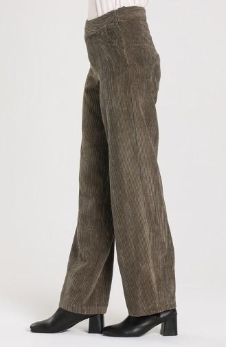 Pocket Velvet Trousers 0545-02 Khaki 0545-02