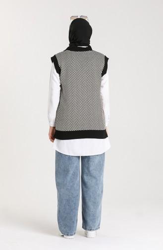 Schwarz Pullover 4348-02