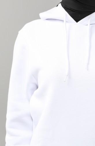 Sweatshirt Blanc 29662-01