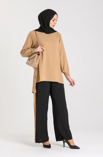Aerobin Fabric Tunic Trousers Double Suit 9043-01 Milk Coffee 9043-01