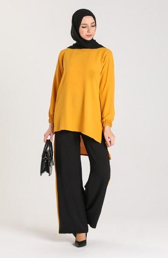 Aerobin Fabric Tunic Trousers Double Suit 9043-02 Mustard 9043-02
