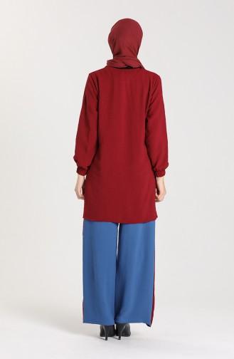 Aerobin Fabric Tunic Trousers Double Suit 9043-03 Damson 9043-03
