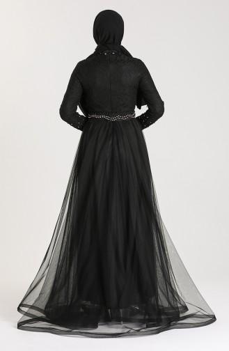 Pearl Lace Evening Dress 5094-02 Black 5094-02