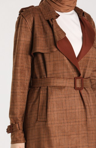 Tobacco Brown Trench Coats Models 1781-01