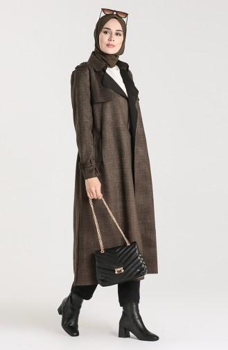 Khaki Trench Coats Models 1781-02