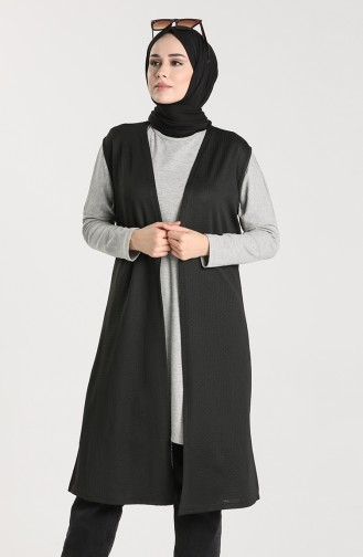 Light Black Gilet 8165-01
