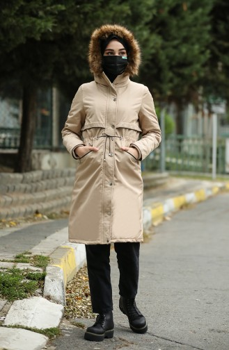 Furry Quilted Coats 6003-02 Black 6003A-01