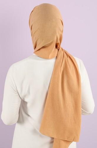 Poly Plain Cotton Shawl 1422-27 Camel 1422-27