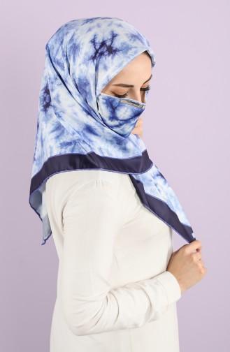 Karaca Synthetic Silk Twill Scarf 90743-02 Naphta Green Khaki 90743-02