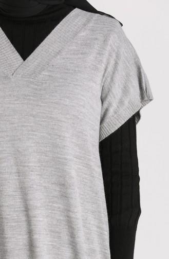Knitwear Long Sweater 1099-03 Gray 1099-03