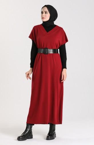 Knitwear Long Sweater 1099-05 Burgundy 1099-05