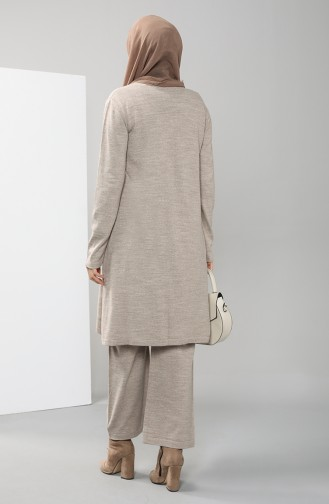 Knitwear Tunic Trousers Double Suit 2423-02 Mink 2423-02