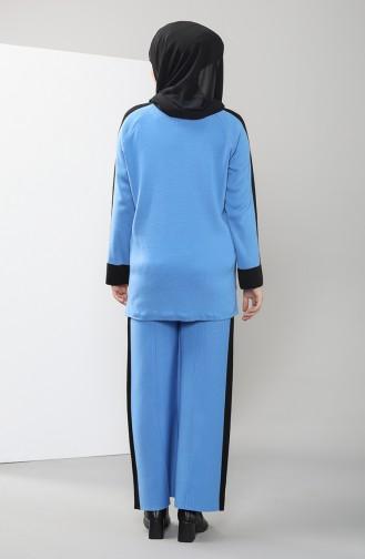 Knitwear Garni Tunic Trousers Double Suit 4339-02 Indigo 4339-02