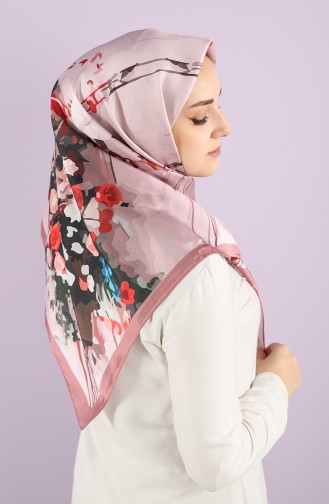 Patterned Scarf 15233-10 Dried Rose Powder 15233-10