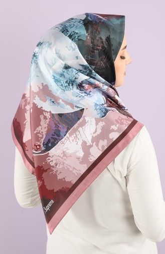 Patterned Scarf 15234-11 Dry Rose Powder 15234-11