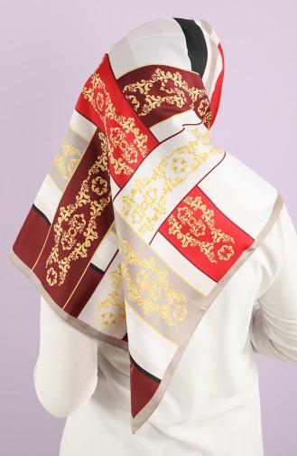 Foil Patterned Scarf 15237-04 Burgundy 15237-04