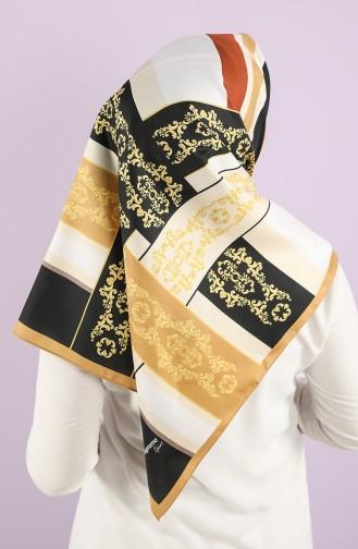 Foil Patterned Scarf 15237-12 Gold 15237-12
