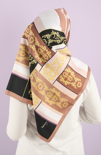 Foil Patterned Scarf 15237-13 Dried Rose 15237-13