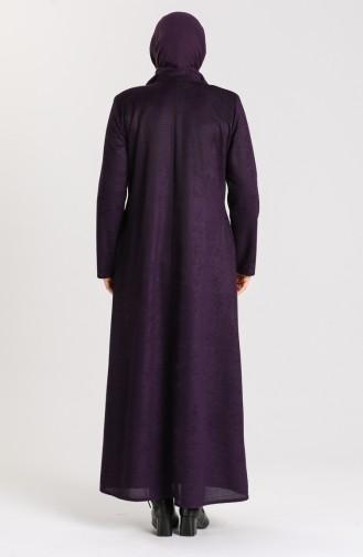 Plus Size Winter Abaya 0106a-06 Purple 0106A-06