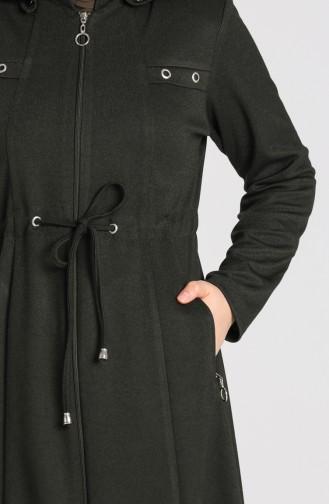 Plus Size Hooded winter Abaya 2035-03 Khaki 2035-03