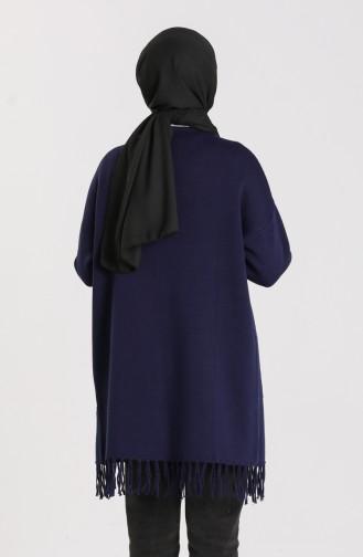 Knitwear Tasseled Sweater 4256-02 Navy Blue 4256-02