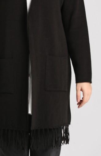 Knitwear Tasseled Sweater 4256-03 Black 4256-03